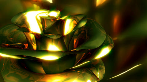 metallic flower Stock Video Footage