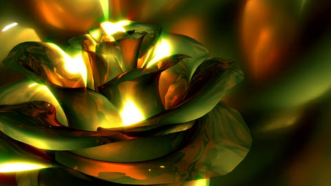 metallic flower Animation
