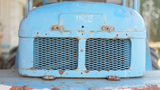 Back Engine Ventilation Blue Metal Rust stock footage