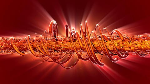 Abstract Glowing Spirals Animation