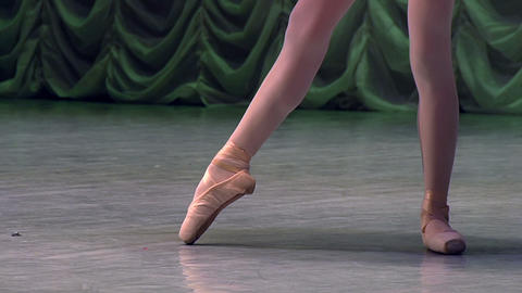 Elegant Classical Ballet on Stage HD Footage