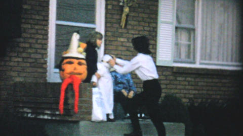 Jack O Lantern Pumpkin For Halloween 1967 Vintage Footage