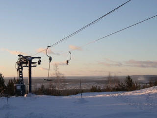 Work ski lift. 320x240 Footage
