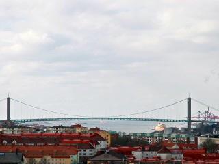 Road bridge over the river. Goteborg, Sweden. 320x Footage