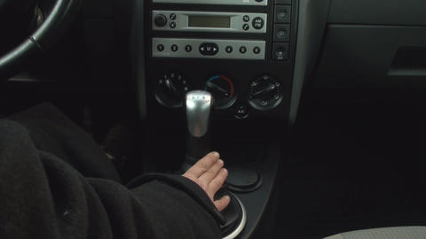 Adult Woman Shifts Gears In Car Footage