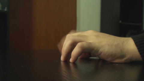 Hand Detail While Waiting For Someone Side Shot Footage