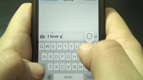 Young Man Texts His Best Friend Point Of View Shot stock footage
