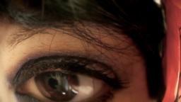 Eye macro woman fisheye Footage