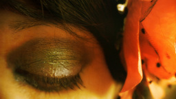 Eye macro woman gold Footage