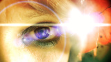 Eye macro woman lens flare Footage