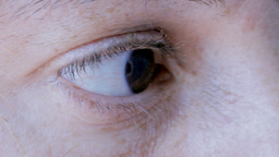 Eye macro woman no make up Footage