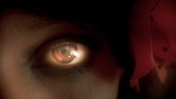 Eye macro woman spotlight Footage