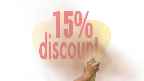 15 Percent Discount Spray Painting Stock Video Footage
