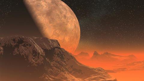 Alien planet Animation
