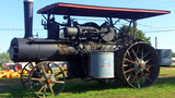 Historic Steam Tractor Exhibit In Tecumseh OK stock footage