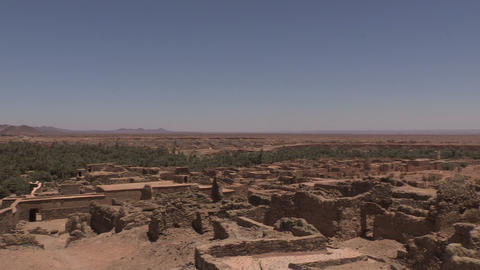 Slow Zoom Over Ruins In Assa Morocco - FT0036 stock footage