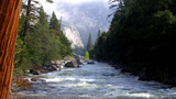 Merced River In Yosemite National Park In Spring stock footage