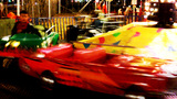 Night Kiddie Merry Go Round Carnival Ride stock footage