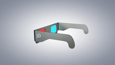 3D Glasses stock footage