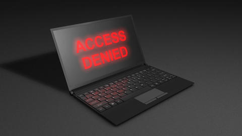 Access Denied stock footage