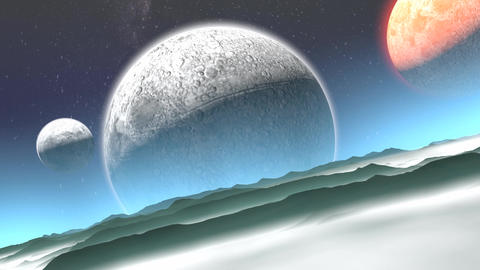 Alien planet Animation