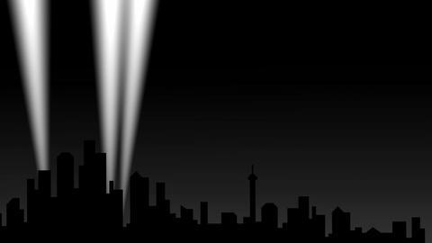 City spotlight Stock Video Footage