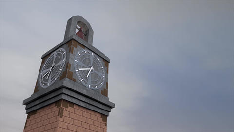 Clock tower time lapse Animation