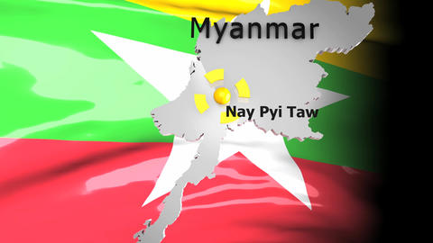 Crisis map Myanmar Animation