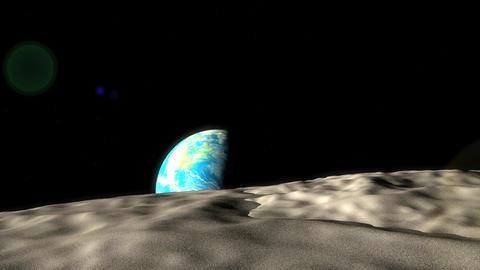 Earth moon distance Animation