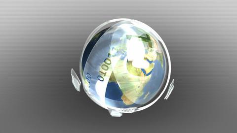 Earth inside futuristic shell Animation