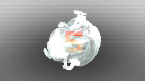 Futuristic enigma orb countdown Animation