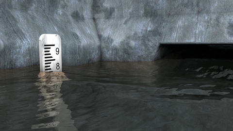 Flood meter rising animation Animation