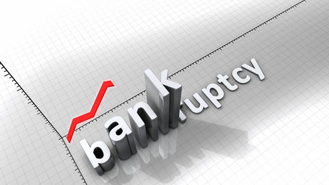 Growing chart - Bankruptcy Animation