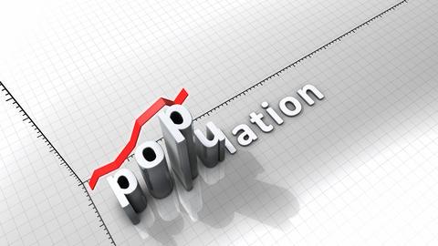 Growing chart - Population Animation