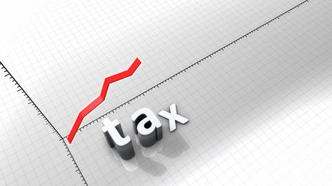 Growing Chart - Tax stock footage