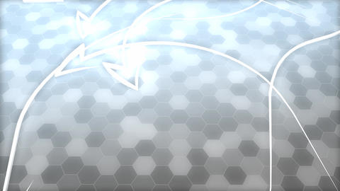 Abstract honeycomb, arrows background Animation
