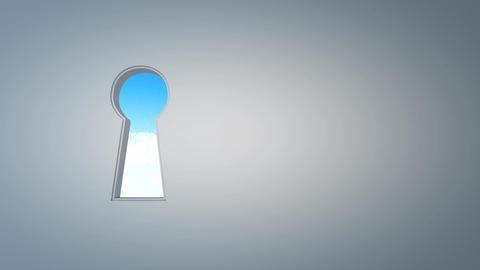 Keyhole sky Animation
