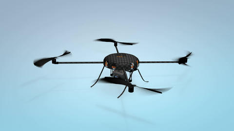 Quadcopter. Micro drone Animation