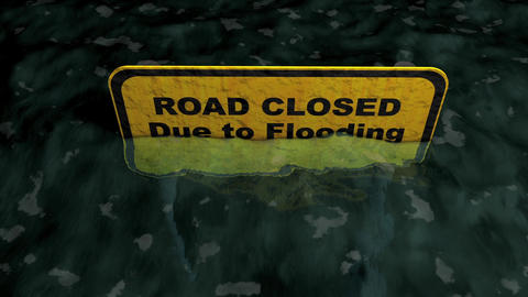 Road Closed stock footage