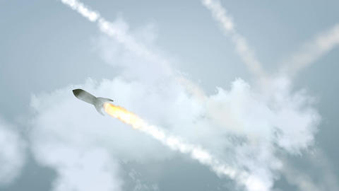 Missiles Attack stock footage