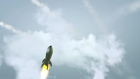 Missiles attack Stock Video Footage
