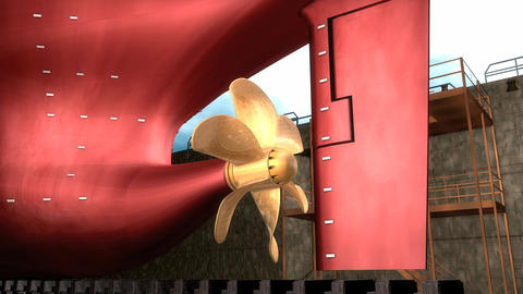 Ship Propeller stock footage