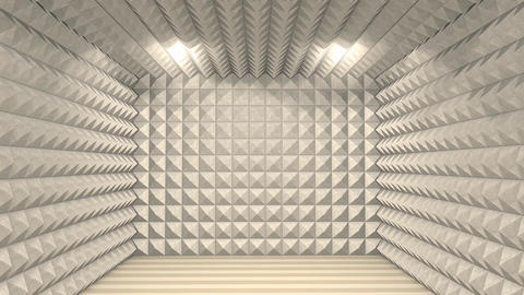 Sound Proof Room stock footage