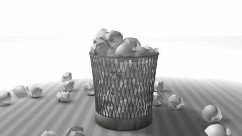 Trash bin Animation