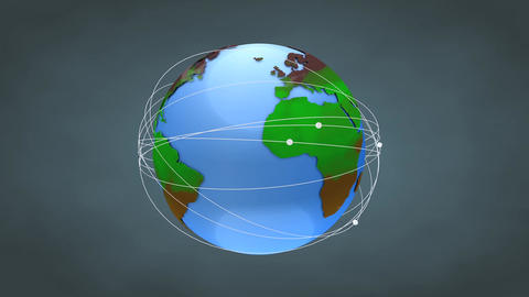 Worldwide network Animation