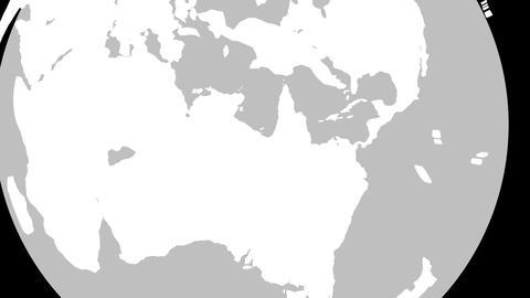 4K Australia Globe Zoom In v2 1 Animation