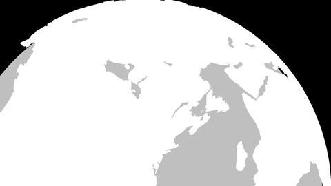 4K Canada Globe Zoom In v2 1 Animation