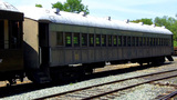 Old Train Passenger Car At Jamestown Railtown stock footage