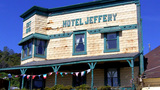 Old West Hotel Jeffery 1 Coulterville CA stock footage