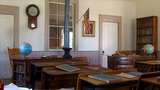One Room School 5 Altaville Grammar School 1858 stock footage